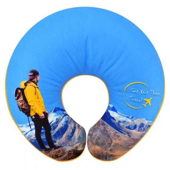 U-Shaped Travel Pillow with Full Colour Logo Print
