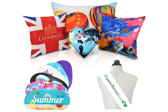 Logo Cushions, Eye Masks and Sashes