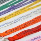 Silk ribbons printed in single colour can make for handy branded product loops