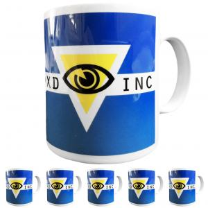 6 Pack of Custom Printed Logo Mugs - Made to Order in UK - Features your Design