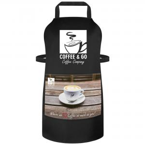 Large UK Made Logo Aprons with Optional Vinyl Logo and Printed Pocket