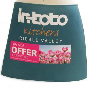 Apron with Logo - Bar Style with Full Colour Print