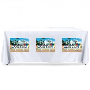 Printed Tablecloth - White with Full Colour Branding