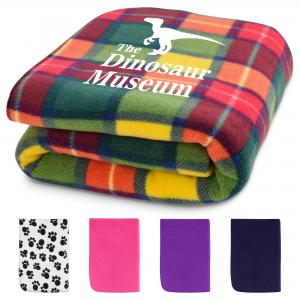 Logo Printed Blankets Travel Rugs & Warmers UK Made with Optional Logo