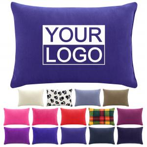 Small Travel Pillows with optional logo print in Various Colours and Fabrics