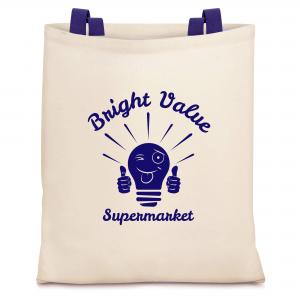 Branded Tote Bag - Shown in a Low Cost Value Cotton with Vinyl Print