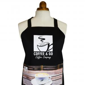 Apron with Logo - Large 90cm Size with Full Colour Printed Pocket