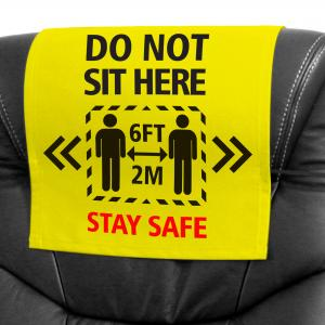Head Rest Cover with Stay Safe Logo from BMPM