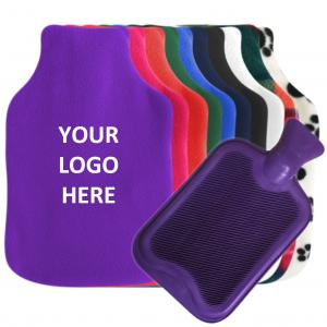 UK Made Custom Hot Water Bottle Covers with optional rubber bottle