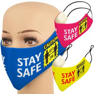 Luxury Face Mask with Stay Safe Logo