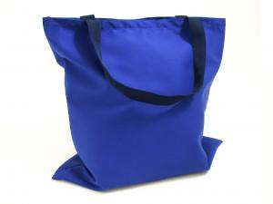 Branded Tote Bag - shown here in royal blue polycotton