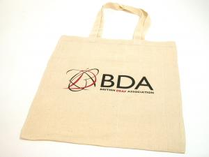 Cotton Shopper Bag shown branded.