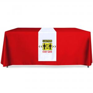 Table Runner with Stay Safe Logo