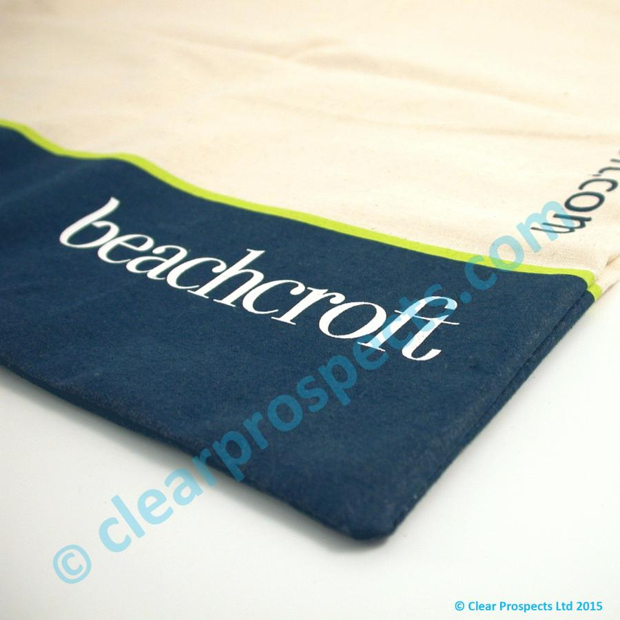 A screen printed bag printed before manufacture to create and edge to edge look