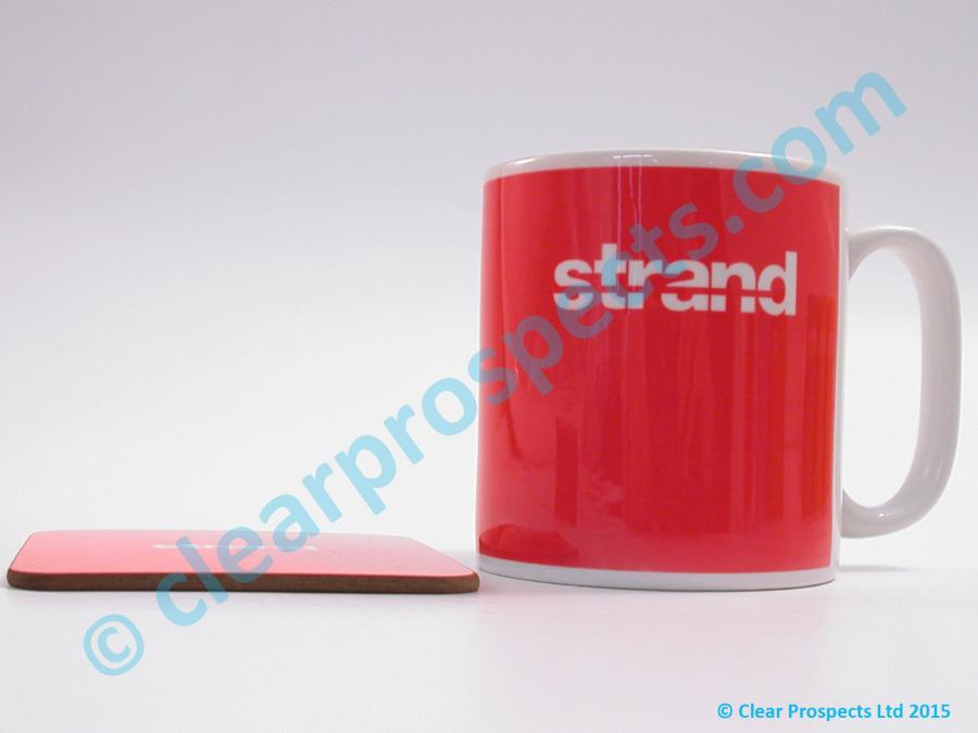 Branding onto mugs and coasters among many other products using dye sub