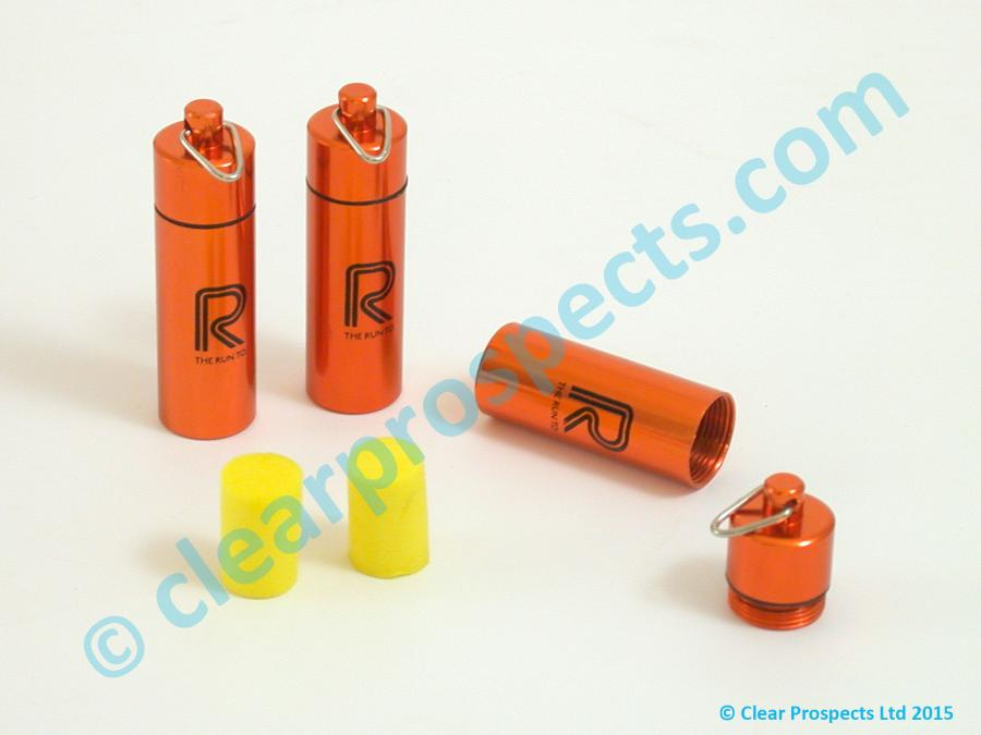 Pad Printing example showing 1 colour onto Earplug Metal Cases