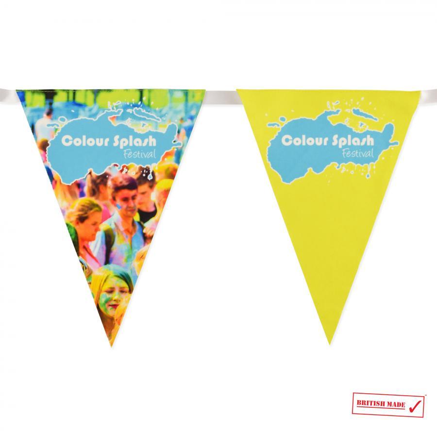 Royal Blue /& Yellow 5M Triangle Flag Bunting 12 Flags Triangular